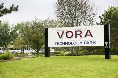 Vora Technology Park Entrance to Parking Sign